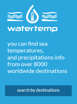 On Water Temp portal you can find sea & air temperatures, and precipitations info from over 8000 worldwide destinations.
